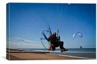 Paraglider in flight., Canvas Print
