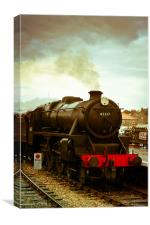 Poppy line steam locomotive., Canvas Print