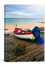 Fishing boat., Canvas Print