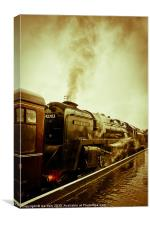 Sheringham Steam Gala, Canvas Print