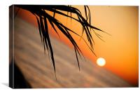Sunset in Paphos Cyprus, Canvas Print