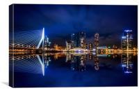 Skyline Rotterdam, Canvas Print