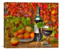 autumn picnic in my garden, Canvas Print