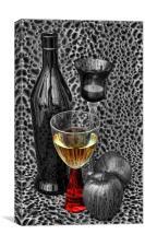 glass of wine, Canvas Print