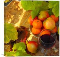 fruit n wine, Canvas Print