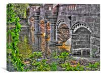 bridge stanley park liverpool, Canvas Print