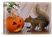 squirrel fun, Canvas Print