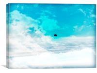 snow n clouds, Canvas Print