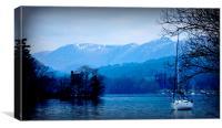the beautiful lakes , Canvas Print