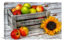 apples and flowers, Canvas Print