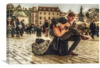 the busker, Canvas Print