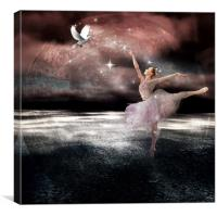 dancing with doves, Canvas Print