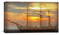 ghost ship, Canvas Print