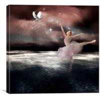fantasy ballet, Canvas Print