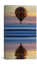 rippled reflections, Canvas Print