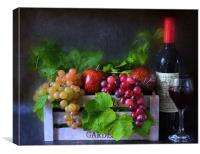fruit and wine, Canvas Print