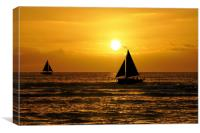 silhouettes in the sunset, Canvas Print