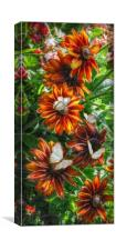flowers and butterflies, Canvas Print