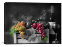wine and fruit, Canvas Print