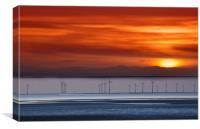 crosby sunset, Canvas Print