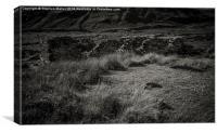 Ruined Croft, Boreraig, Skye, Scotland, Canvas Print