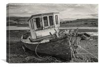 Two Wrecks on Loch Harport, Canvas Print