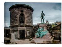 David Hume Tomb in Edinburgh, Canvas Print