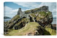 Dunscaith Castle on Skye , Canvas Print