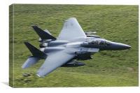 F15 E fighter jet, Canvas Print
