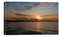 gentle sunrise, Canvas Print