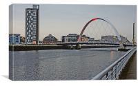 grey Glasgow, Canvas Print