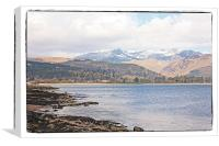 Brodick bay Arran, Canvas Print
