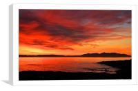 red red sky, Canvas Print