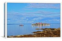 The Waverly leaving Brodick pier, Canvas Print