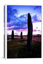 Machrie moor standing stones,Arran, Canvas Print