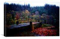 Loch Ard autumn leaves, Canvas Print