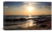 Sunset at the seaside, Canvas Print