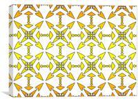 Retro Pattern, Canvas Print