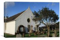St Bride's, Lochranza, Canvas Print