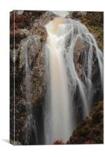 Waterfall on the Milky Burn, Catacol, Canvas Print