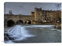 Poulteney Bridge Bath, Canvas Print