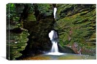 St Nectans Glen Waterfall, Canvas Print