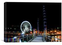 Torquay Harbour & Olympic Ferris Wheel, Canvas Print
