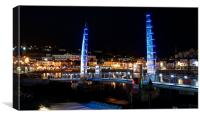 Torquay harbour At Night 1, Canvas Print
