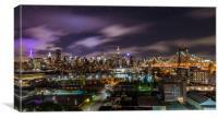 Manhattan Skyline at Night, Canvas Print