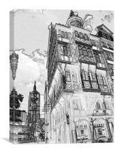 Frankfurt Street View , Canvas Print