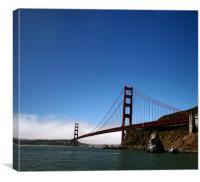The Golden Gate Bridge, Canvas Print