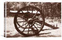Civil War Cannon, Canvas Print