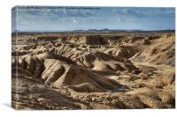 Badlands at Bardenas Reales, Canvas Print