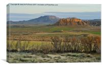 Sunset at Bardenas Reales, Navarra, Canvas Print